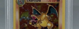Charizard Pokemon Collectible Trading Card Graded PSA 9 Holographic First Edition